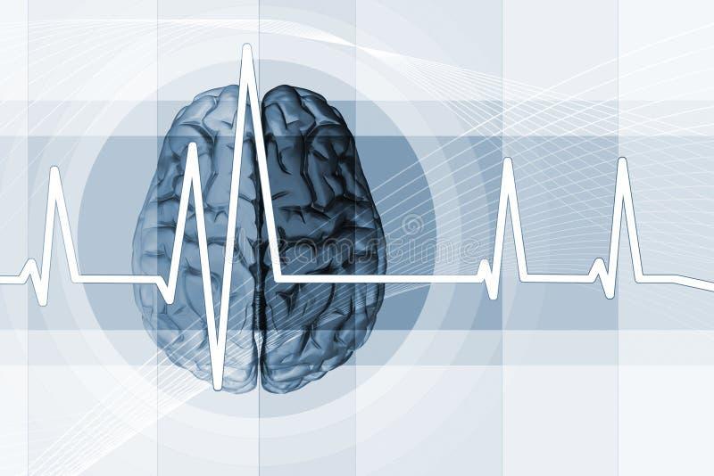 Pulso del cerebro stock de ilustración