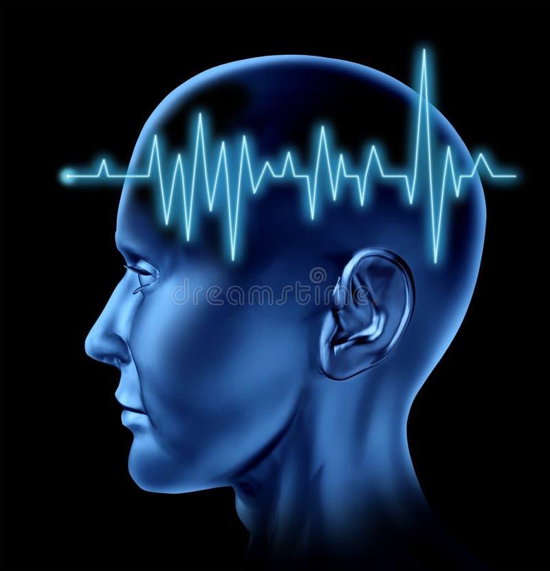 Pulso del corazón de la circulación del movimiento del cerebro ilustración del vector