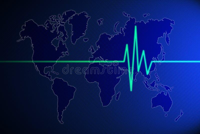 Pulso del mundo ilustración del vector