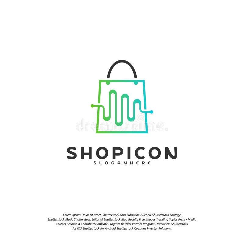 Pulso Logo Template Design Vector de la tienda ilustración del vector