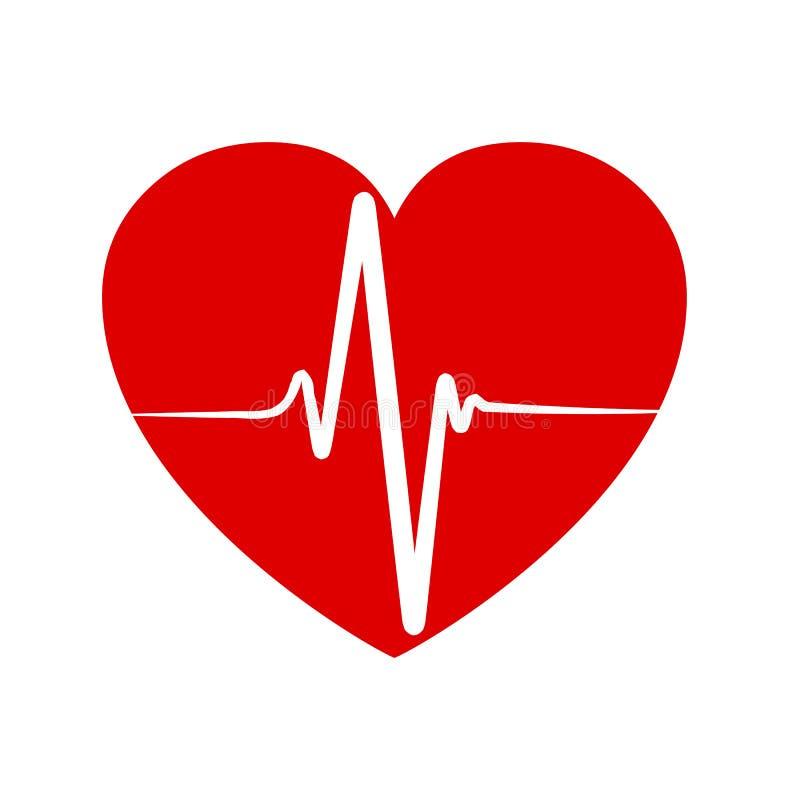 Pulso no coração - vetor ilustração royalty free
