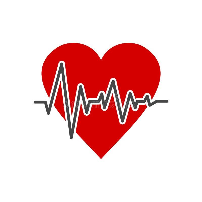Pulsu życia kardiograma kierowa ikona, prosta wektorowa ilustracja ilustracji
