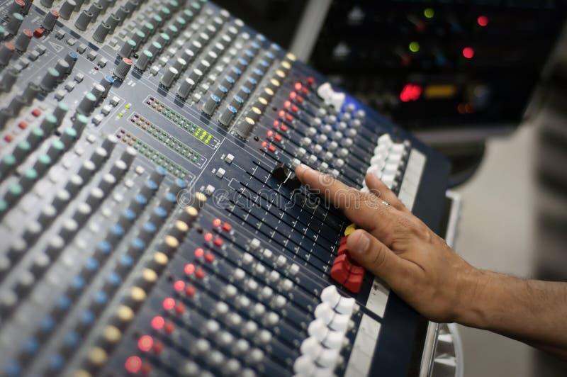 Pult sonore moderne de mélange photo libre de droits