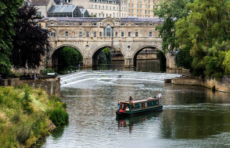 Pulteney Bridge, and Weir Bath, UK royalty free stock photo