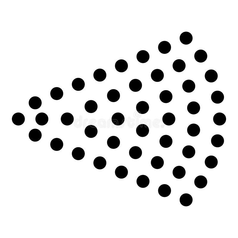 Pulvérisez la brume de jet d'eau de jet d'aérosol de l'atomiseur de l'image plate de style de bouteille d'icône de noir de couleu illustration stock
