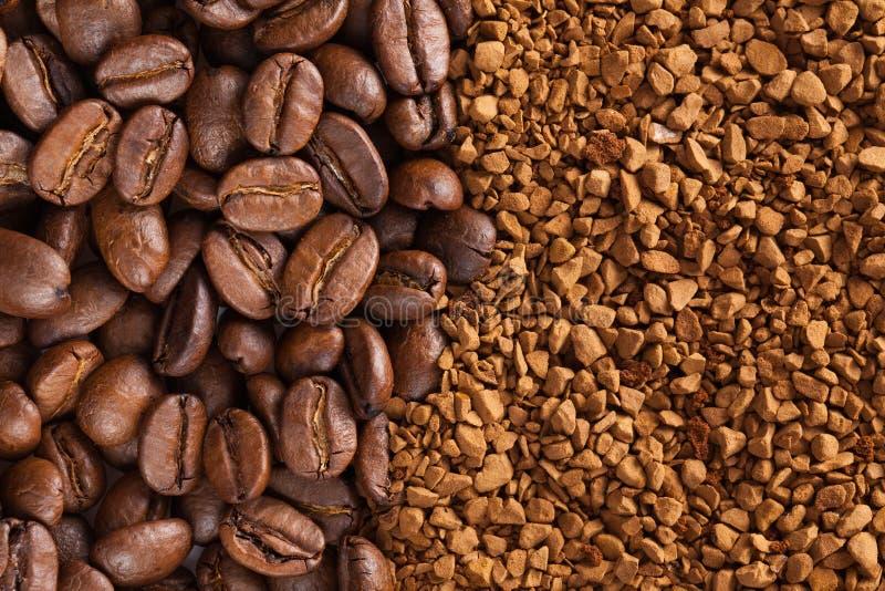 pulver för bönakaffeinstant royaltyfri fotografi