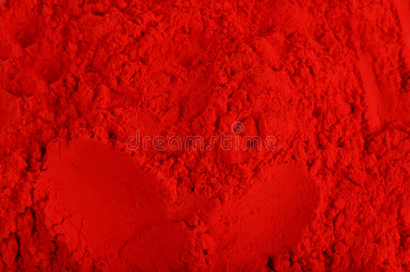 Pulver för röd färg arkivbilder