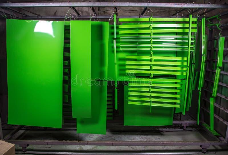 Pulverbeschichtung von Metalldetails lizenzfreie stockbilder