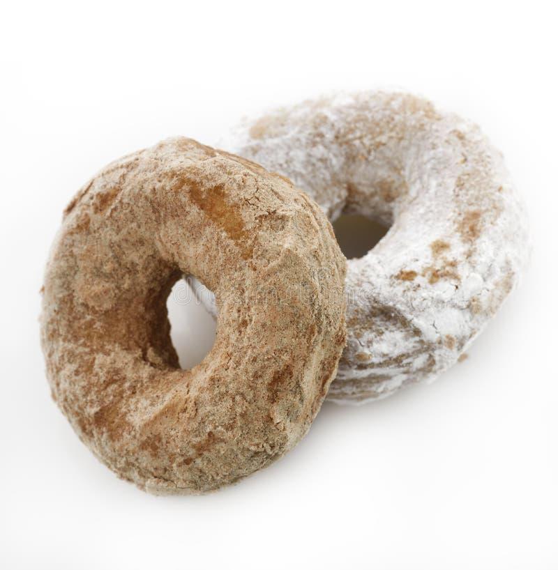 Pulverisierter Sugar Crusty Donuts lizenzfreie stockfotografie