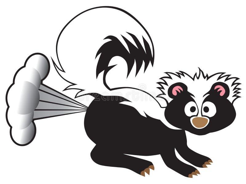 Pulverização da jaritataca dos desenhos animados ilustração do vetor