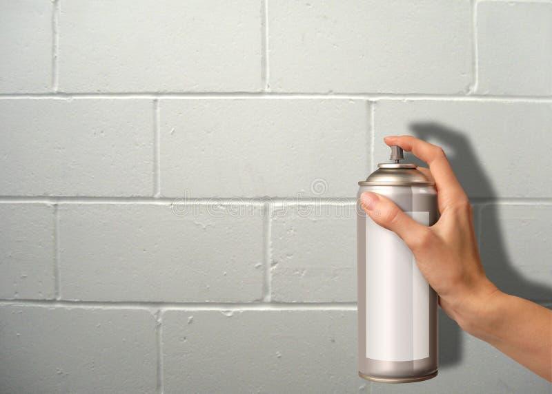 Pulverização da parede imagem de stock