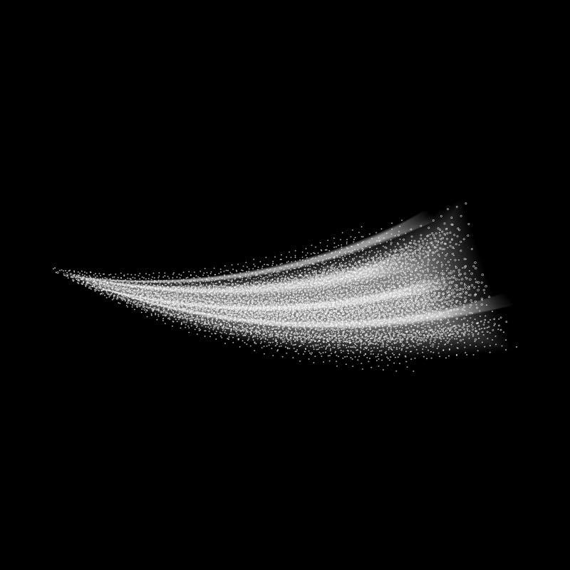 Pulverizador branco do fumo do formulário de onda ilustração stock