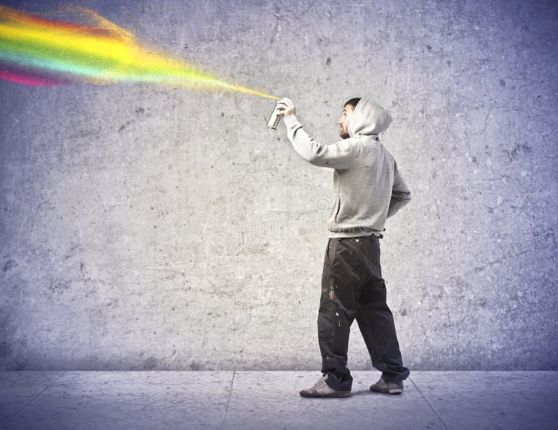 Pulverizador da coloração fotografia de stock royalty free