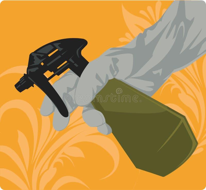 Pulverizador da mão ilustração royalty free