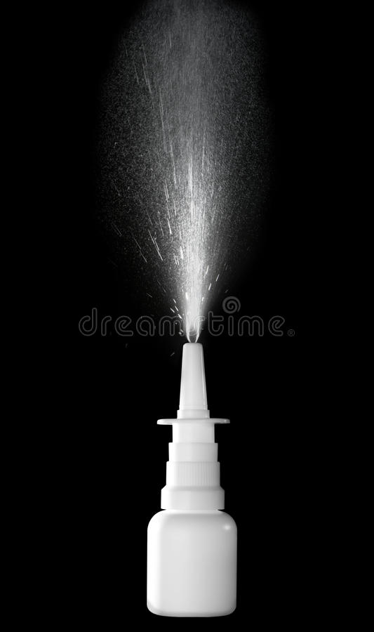 Pulverizador nasal imagens de stock