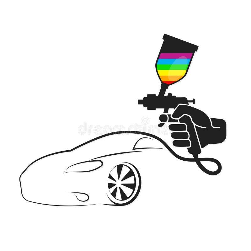 Pulverizador para carros de pintura ilustração stock