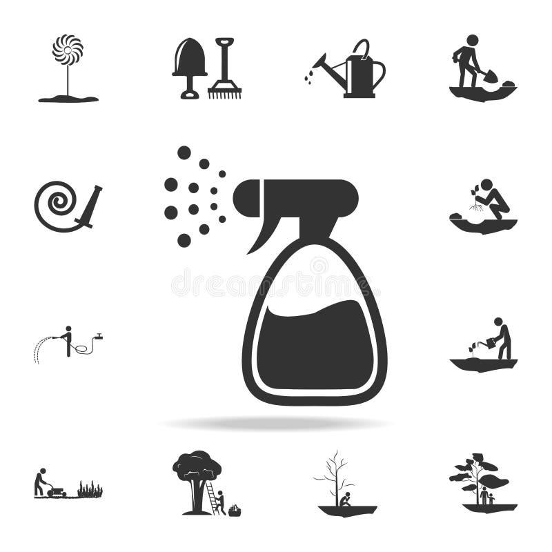 pulverizador para o ícone da água Grupo detalhado de ferramentas de jardim e de ícones da agricultura Projeto gráfico da qualidad ilustração stock