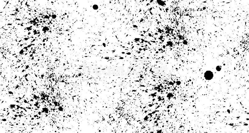 Pulverizador sem emenda do preto do teste padrão em um fundo branco ilustração stock
