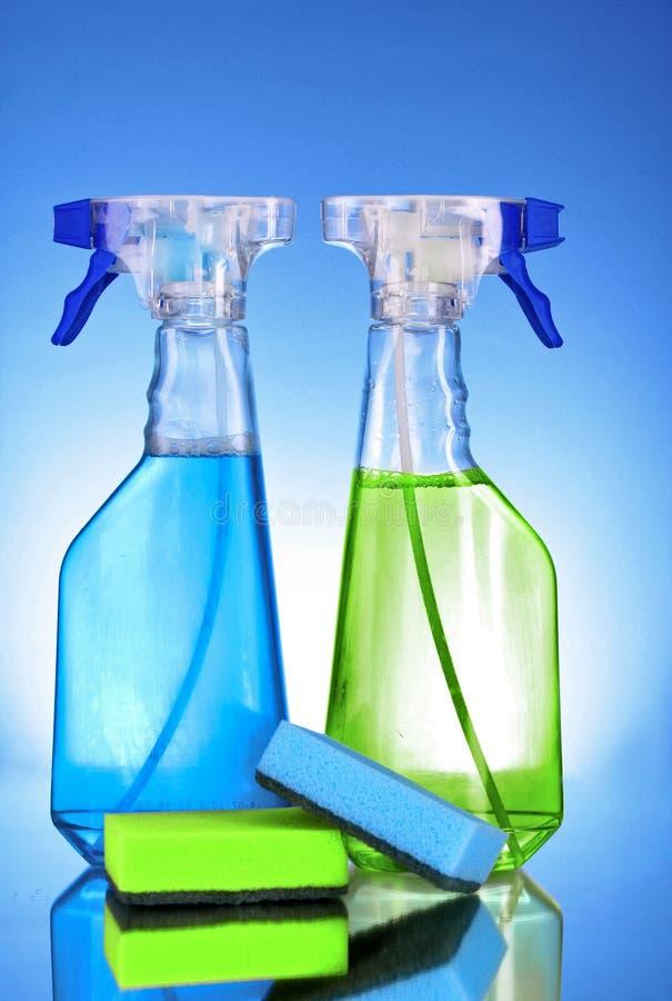 Pulverize frascos imagens de stock