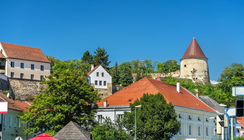 Pulverturm, une tour antique dans Krems un der Donau, Autriche photographie stock libre de droits