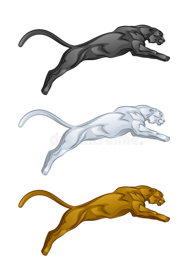 Puma royalty ilustracja