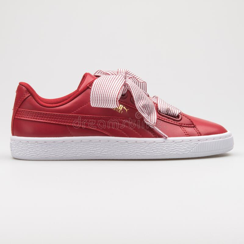 Puma Basket Heart Red And White Sneaker