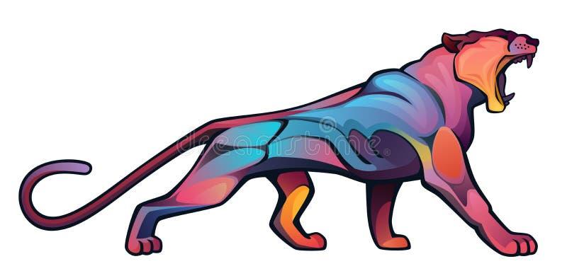 Puma irritado ilustração stock