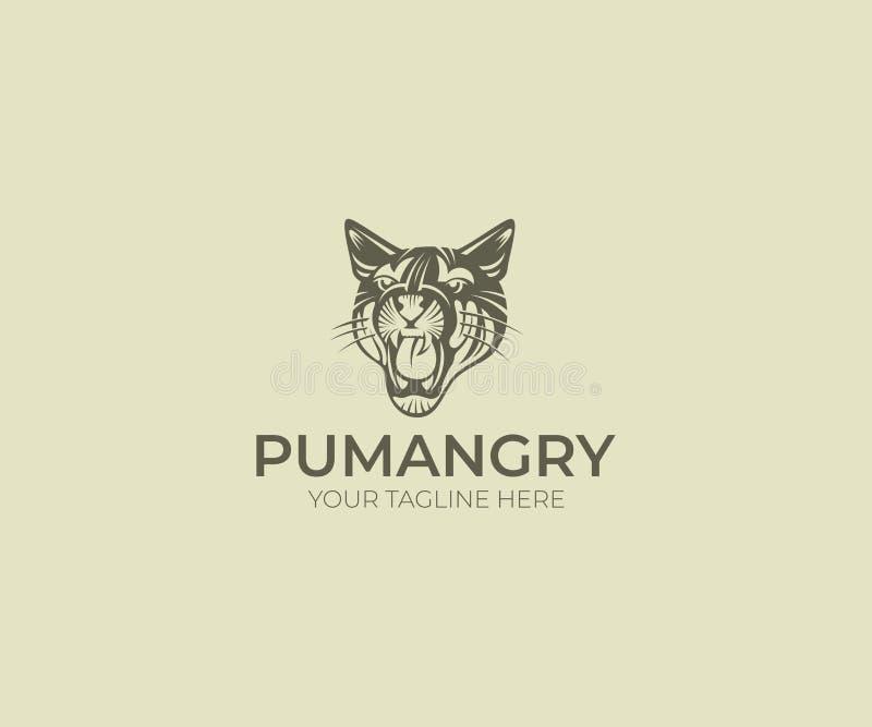 Puma Logo Template Progettazione di vettore del puma Siluetta animale royalty illustrazione gratis