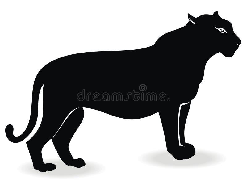 Puma nero illustrazione vettoriale