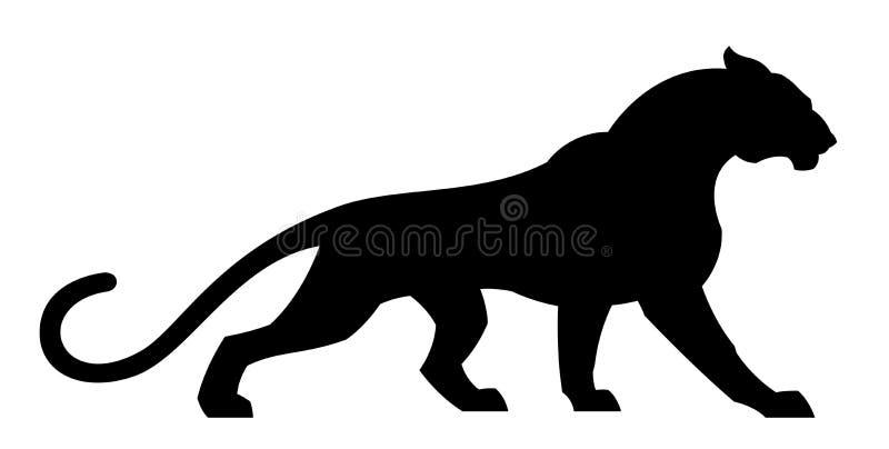 Puma preto ilustração do vetor