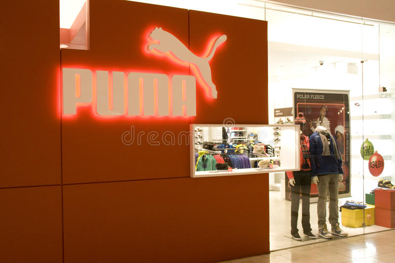 Puma store royalty free stock images
