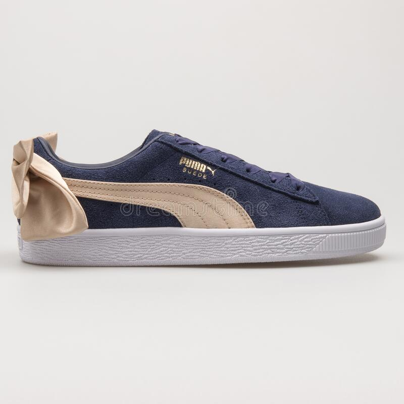 Puma Suede Bow Varsity Navy Blue And