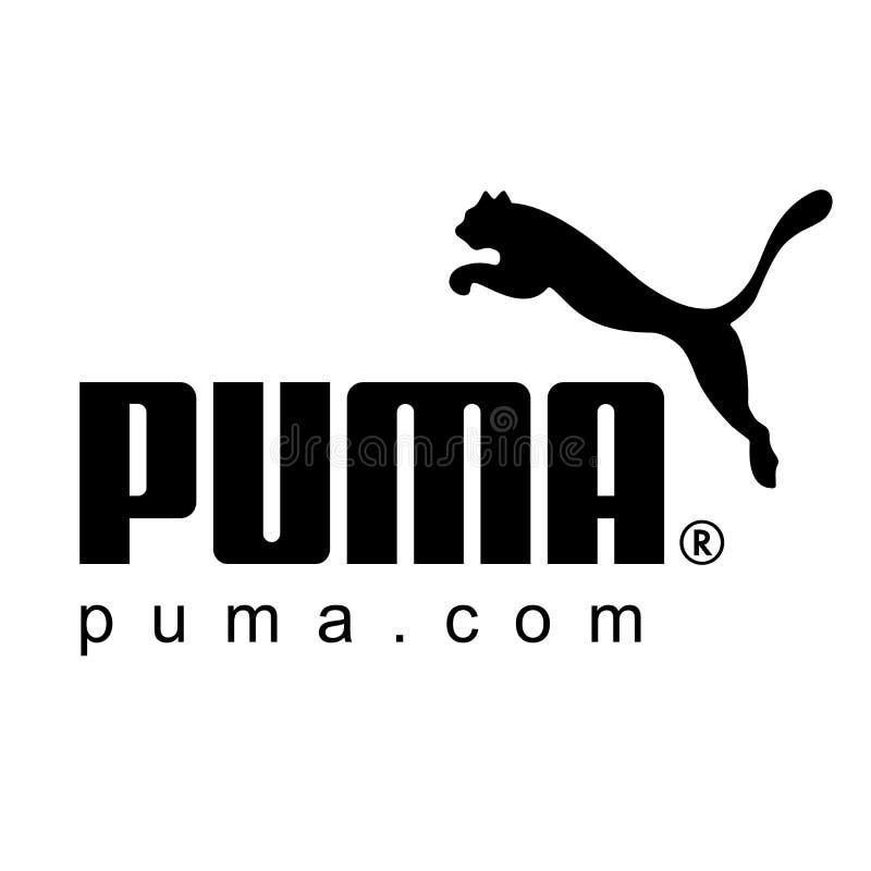 Pumalogoikone lizenzfreies stockbild