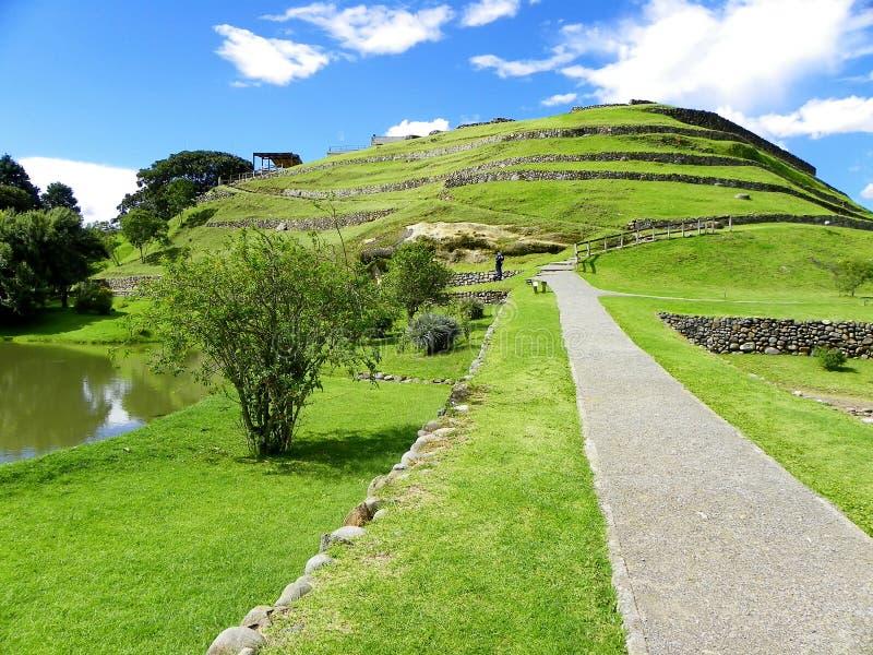 Pumapungo, ruines des Inca de la ville antique Tomebamba ? Cuenca, Equateur image stock