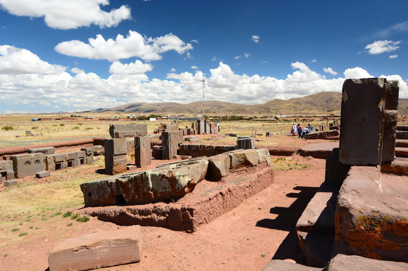 Pumapunku. Tiwanaku archaeological site. Bolivia royalty free stock photo