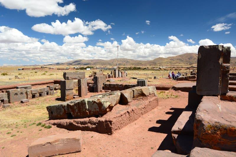 Pumapunku Tiwanaku archeologische plaats bolivië royalty-vrije stock foto