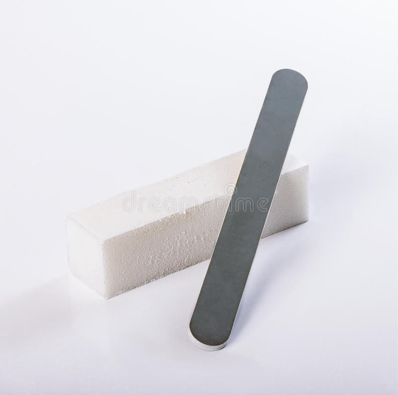 Pumice, nail file stock image. Image of healthy, relax - 57719751