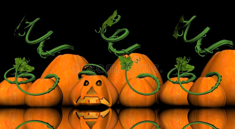 Download Pumkin jack-o-lantern stock illustration. Image of happy - 5199779