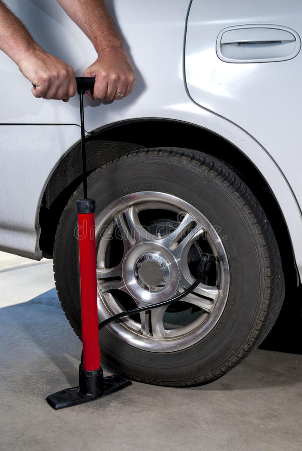 Download Pump car tire with air stock photo. Image of rubber, pump - 26108496