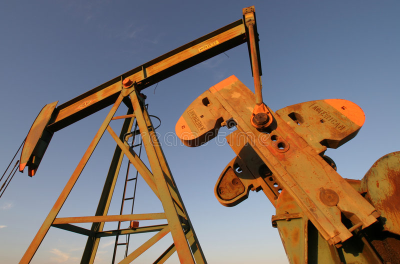 Pump jack 3 stock photos