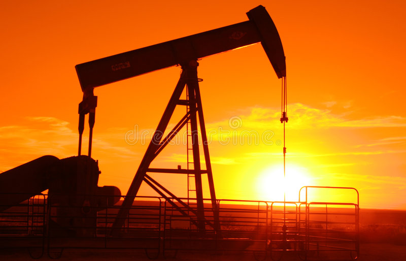 Pump jack 4 royalty free stock images