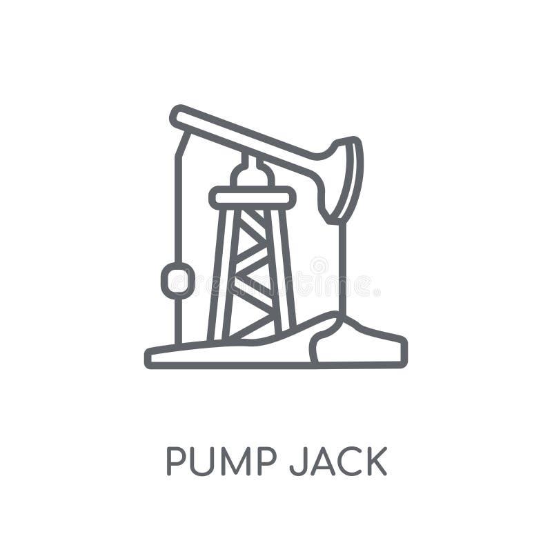 Pump jack linear icon. Modern outline Pump jack logo concept on royalty free illustration