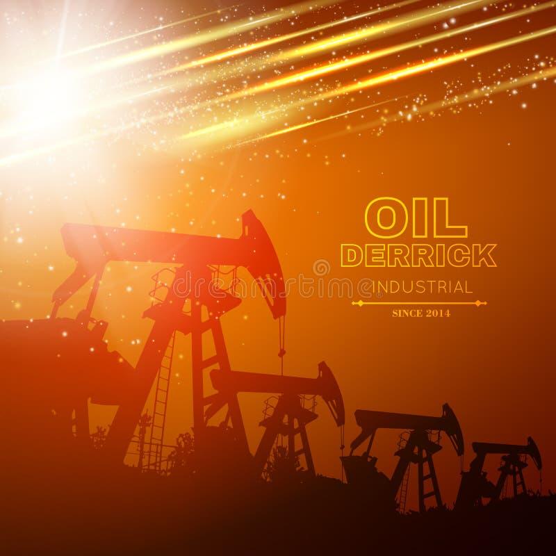 Pump Jack Oil Crane stock illustrationer