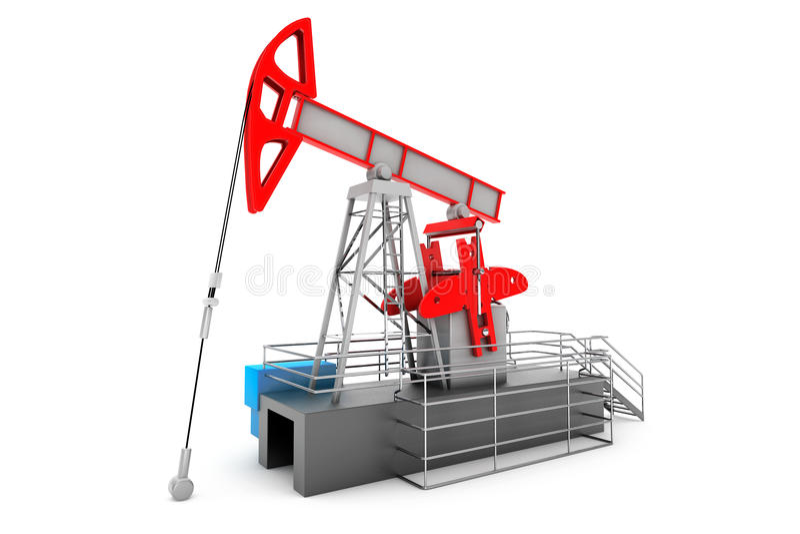 Pump Jack Oil Crane vektor illustrationer