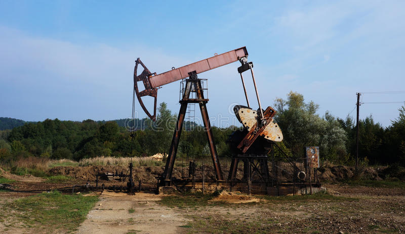Pump jack stock photo