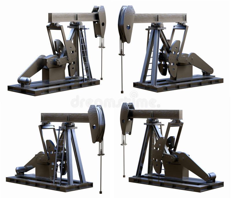 Download Pump Jack Views stock illustration. Image of illustration - 18781949