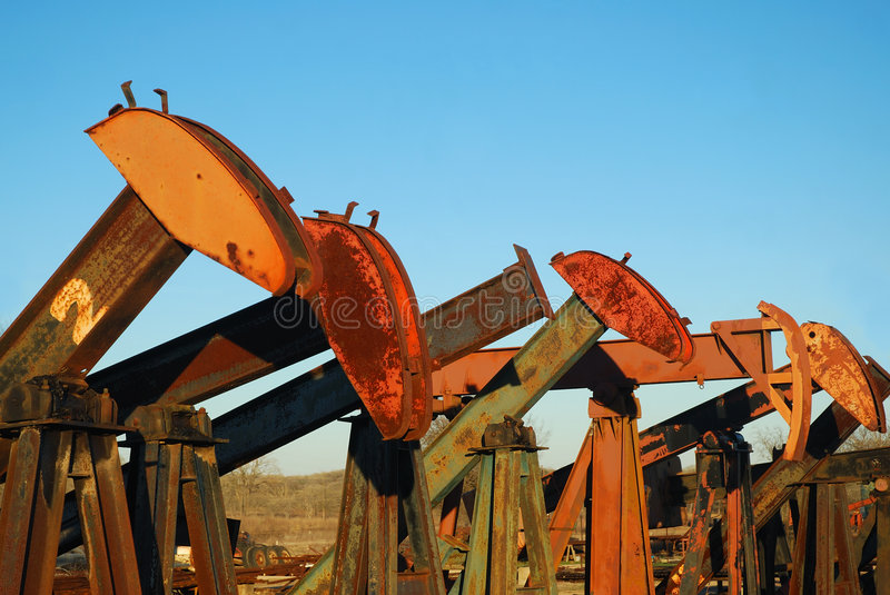 Download Pump Jack Yard stock image. Image of energy, pump, industrial - 4339115
