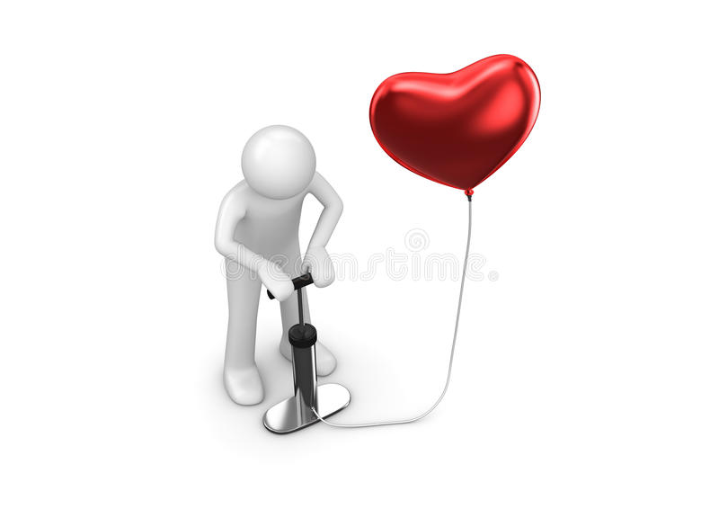 Pump my heart with your love stock image