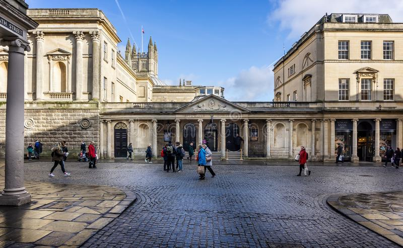The Pump Room in Stall Street taken in Stall Street, Bath, Somerset, UK. On 4 February 2019 royalty free stock photos
