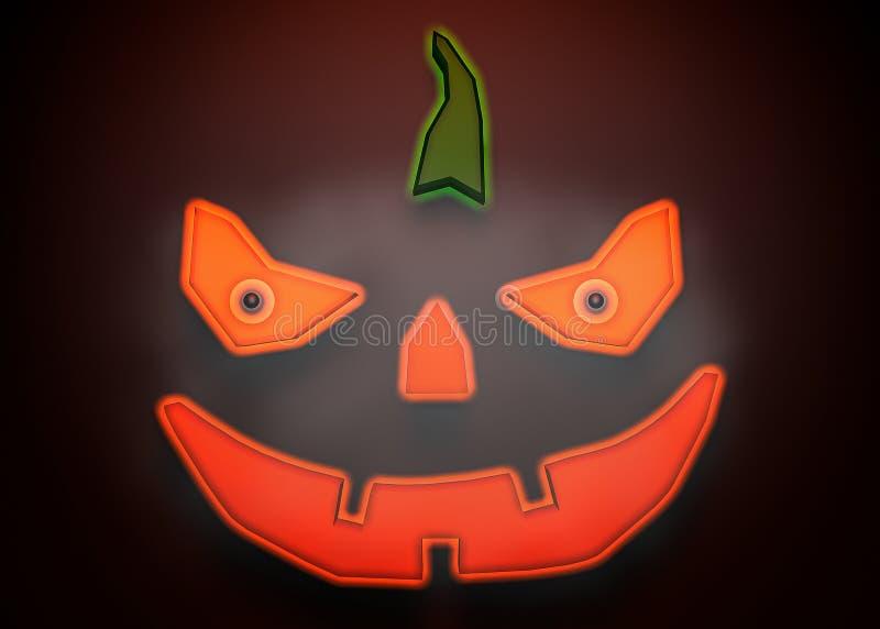 pumpa för tolkning 3d för halloween royaltyfri illustrationer